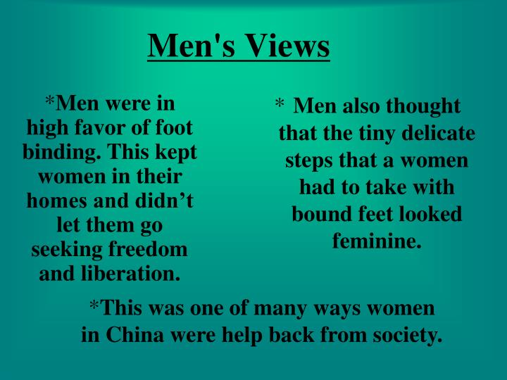 Men's Views