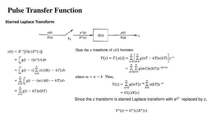 laplace transform of pulse function
