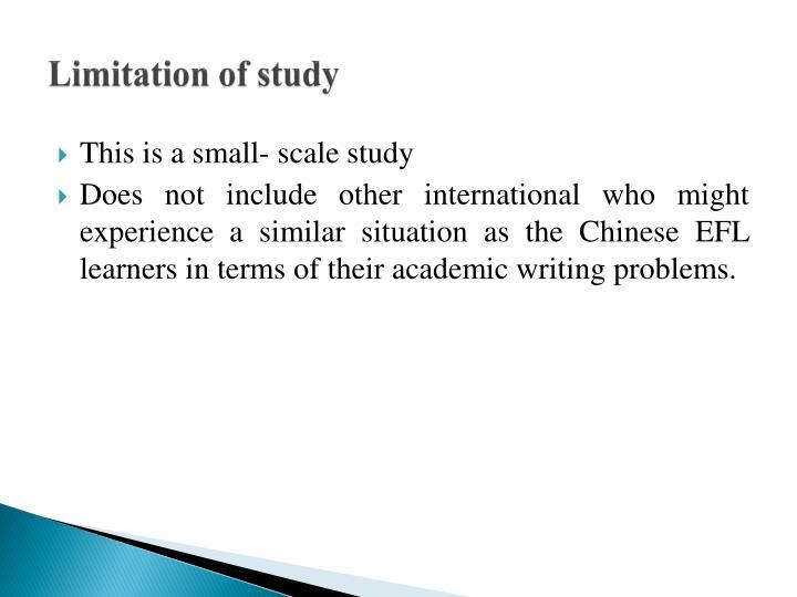 Limitation of study