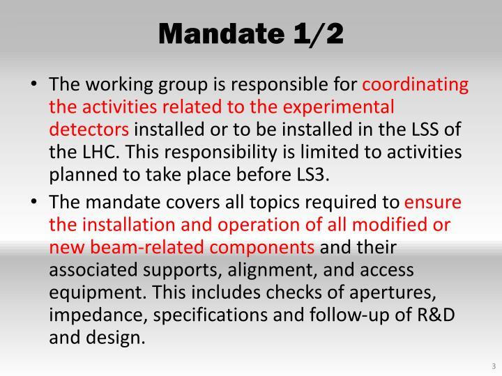 Mandate 1 2