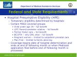 federal and state requirements4