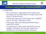 federal and state requirements5