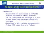 federal and state requirements9