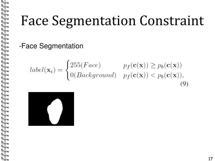 Face Segmentation Constraint