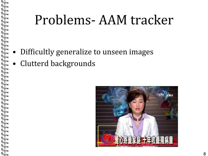Problems- AAM tracker