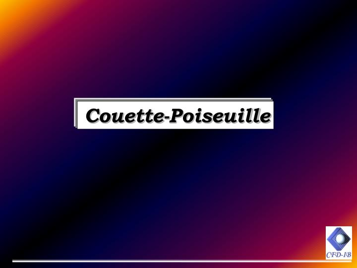 Couette-Poiseuille