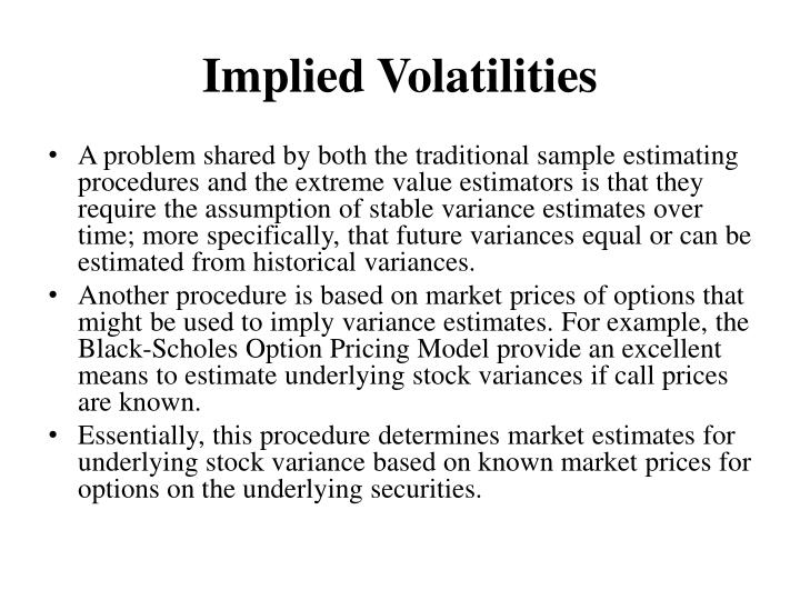 Implied Volatilities