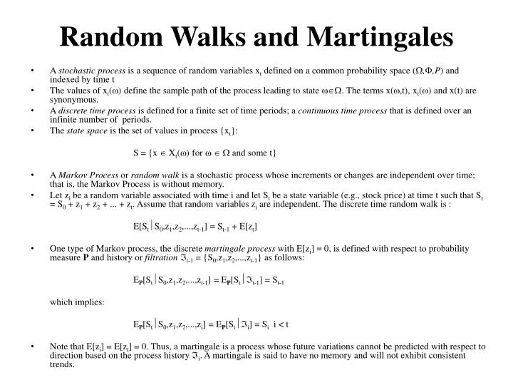 Random walks and martingales