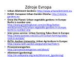 zdroje evropa