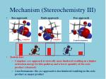 mechanism stereochemistry iii