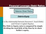 financial leverage debt ratios2
