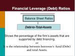 financial leverage debt ratios3