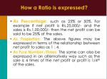 how a ratio is expressed