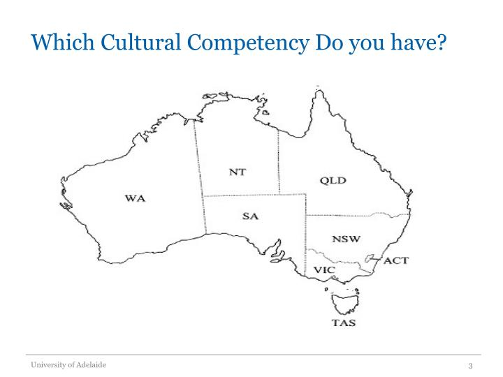 Which cultural competency do you have