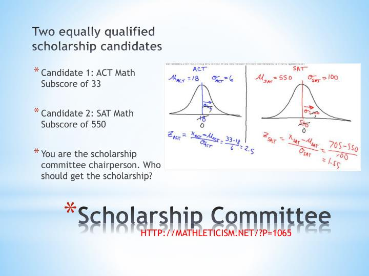 Two equally qualified scholarship candidates