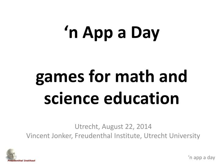 n app a day games for math and science education n.