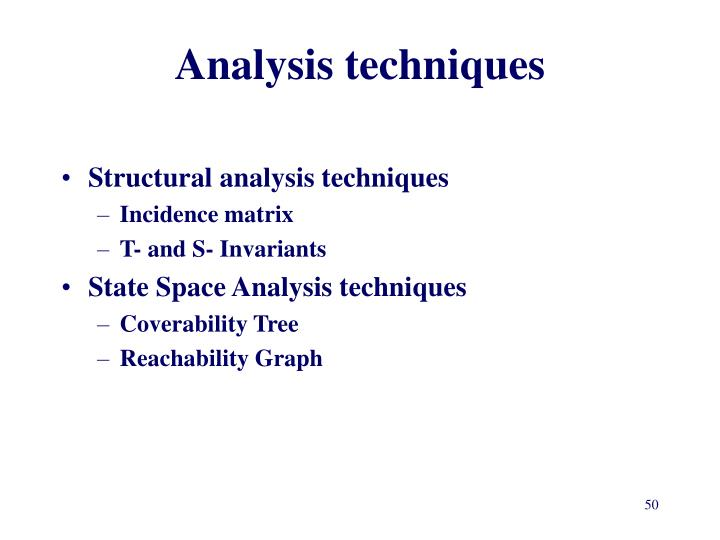 Analysis techniques