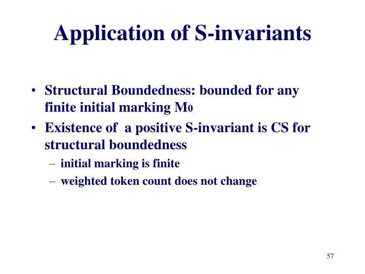 Application of S-invariants