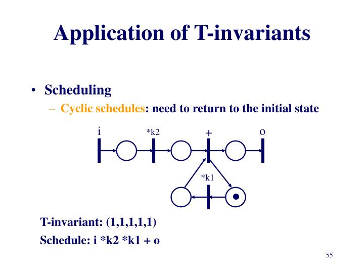 Application of T-invariants