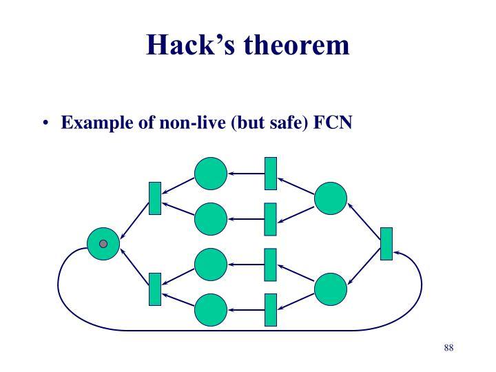 Hack's theorem