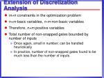 extension of discretization analysis