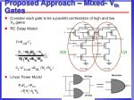 proposed approach mixed v th gates