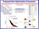 proposed new optimization framework