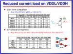 reduced current load on vddl vddh