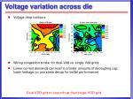 voltage variation across die