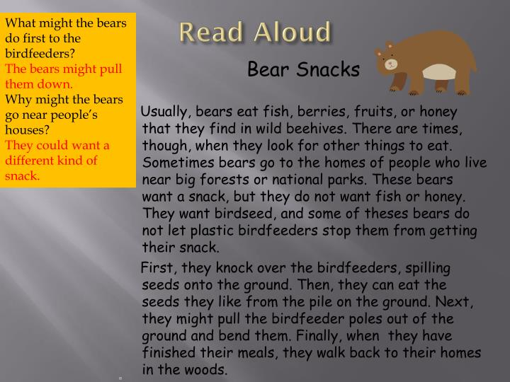 What might the bears do first to the birdfeeders?
