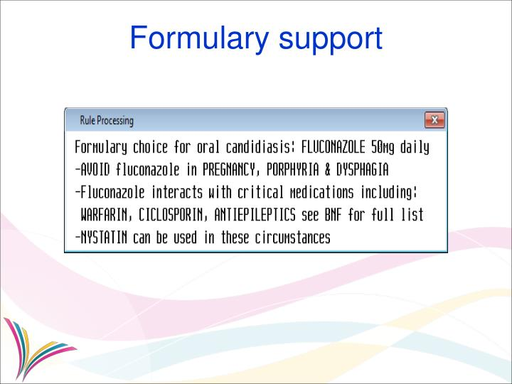 Formulary support