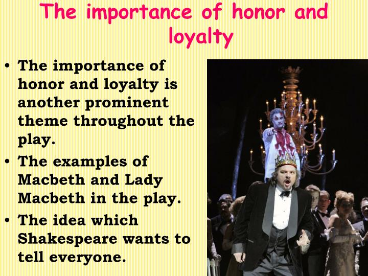 macbeth the importance of the