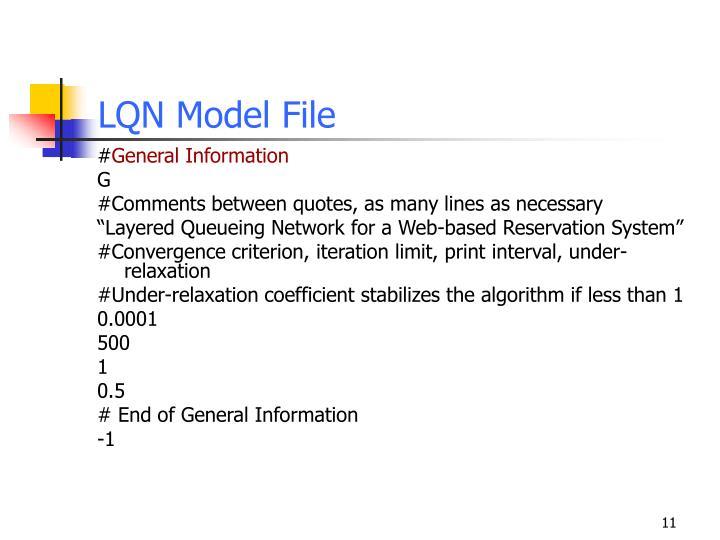 LQN Model File