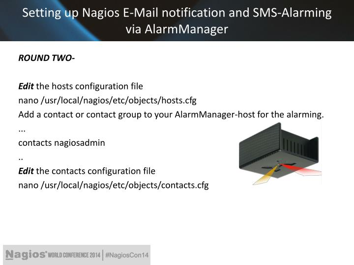 Ppt nagios and kentix system partners critical for Nagios email notification template