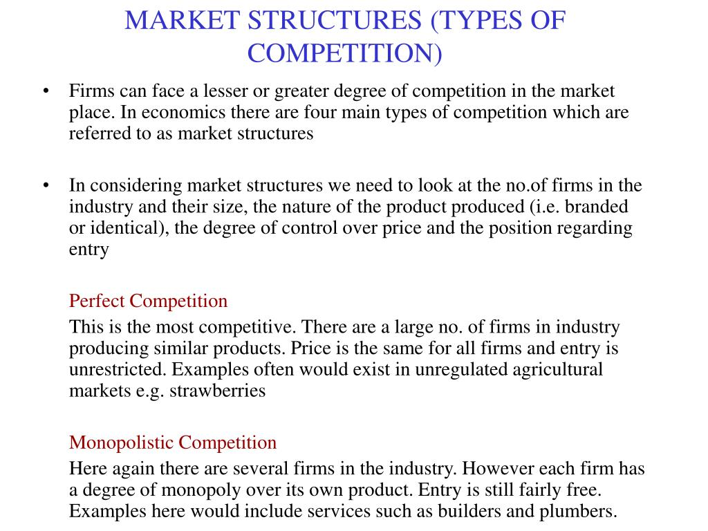 About competition and its types