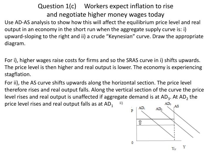 Ppt Econ 100 Tutorial Week 19 Powerpoint Presentation Id6134882. Question 1c Workers Expect Inflation To Rise And Negotiate. Worksheet. Inflation Worksheet Questions At Mspartners.co