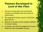 themes developed in lord of the flies