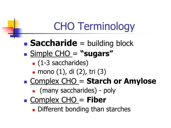 CHO Terminology