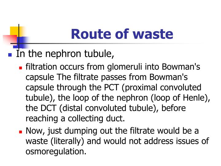 Route of waste