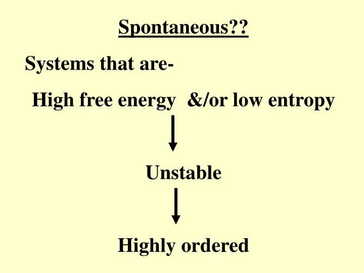 Spontaneous??