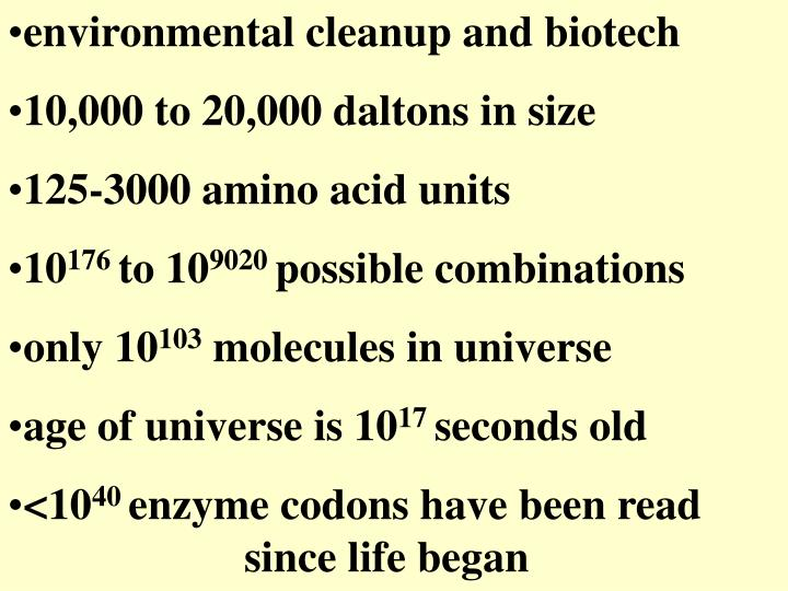 environmental cleanup and biotech