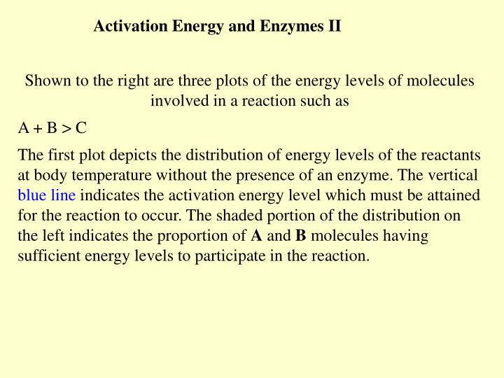 Activation Energy and Enzymes II