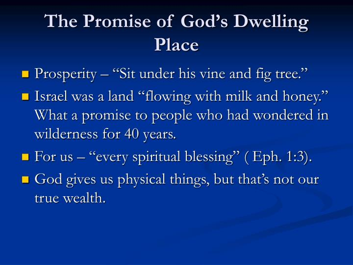 The Promise of God's Dwelling Place