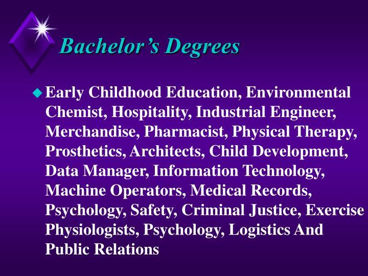 Bachelor's Degrees