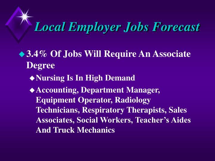 Local Employer Jobs Forecast