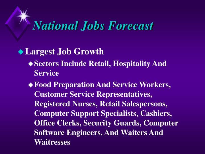 National Jobs Forecast