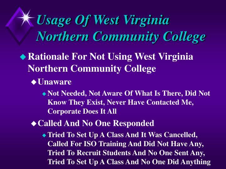 Usage Of West Virginia Northern Community College