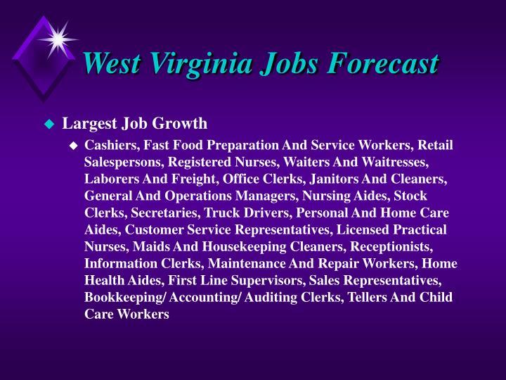West Virginia Jobs Forecast