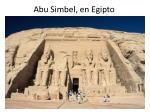 abu simbel en egipto