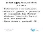 surface supply risk assessment pro forma